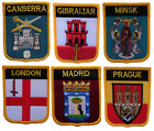 World Capital Cities Shield Embroidered Patches By Country
