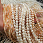 2-10mm Natural Freshwater Pearl Near Round Loose Beads 14.5 Inch DIY
