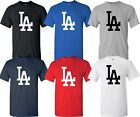 Los Angeles LA Dodgers Big LA Design MLB T-Shirt Multi Colors  Shirt - S-4XL on Ebay