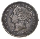 SILVER Roughly the Size of a Dime 1890 Canada 10 Cents World Silver Coin *210