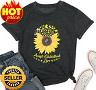 Accept Understand Love Sunflower T-Shirt Women Cute Funny Graphic Puzzle Tee ...