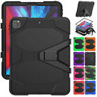 "For Apple iPad Pro 12.9"" 4th Gen 2020 Heavy Duty Hybrid Rugged Stand Case Cover"
