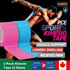 5m/2.5m Sports Kinesiology Tape 2Pack Elastic Physio Muscle Pain Relief Support