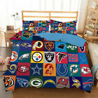 National Football League Bedding Set Duvet Cover and Pillowcase Twin Full Queen $67.9 USD on eBay
