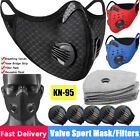Sports  Face Cover W/Purifying Replaceable Carbon Filters Mouth Shield Safety US