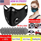 Reusable Face Mask Mouth Cover With Breathing Valves Activated Carbon Filter Pad