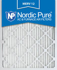 3 or 6 Pack Nordic Pure 20x25x1 Pleated Furnace Air Filters MERV 12 Made in USA