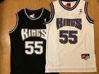 #55 Jason Williams Sacramento Kings Sewn Men's Throwback Black/White Jersey on eBay