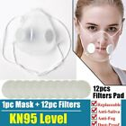 1pc Reusable Transparent Face Masks With 12pc Filters Respirator Valve Visible