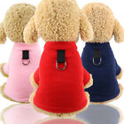 Pet Warm Coat with Buckle Two-Legged Dog Plush Clothes Puppy Cat Apparel
