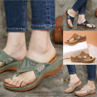 Women Printed Boho Arch Support Soft Cushion Flip-Flops Thong Sandals Slippers