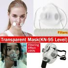 2 Types Transparent Face Masks Anti-droplets Reusable Mouth Cover With Filters