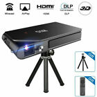 HD Portable Mini 3D DLP Projector Home Theater Wifi Mirascreen Airplay Movie US