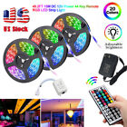 49.2ft 32.8ft RGB 3528 LED Strip Light SMD+44Key Remote+DC 12V Power Kit US