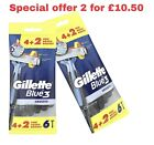 Gillette Blue 3 Smooth Disposable Men's Razors with Lubrastrip - Pack of 6