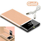 Ultra thin Power Bank 900000mAh 2USB Fast Charging External Battery Pack Charger