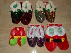 ELF JESTER SLIPPERS PAJAMAS COSTUME ADULT LADIES SEQUINS  CHRISTMAS PARTY GIFT