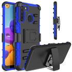 For Samsung Galaxy A21/A20/A30 Shockproof Case TPU Stand Phone Cover & Belt Clip