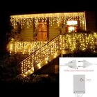 Icicle String Lights LED Fairy Curtain Xmas Light Decor Garden Indoor Hanging 5M
