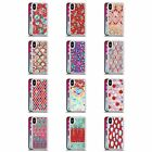 MICKLYN LE FEUVRE PATTERNS 7 RED CLEAR HYBRID LIQUID GLITTER FOR iPHONE PHONES