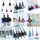 Fashion Women Girl Doll Jewelry Crystal Rhinestones Sweater Pendant Necklace