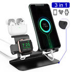 Charging Station Stand Dock Phone Holder Mount For iPhone XS Apple Watch Earbuds