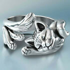 Elegant Cat Shaped Rings For Women 925 Silver Jewelry Party Ring Size 5-11
