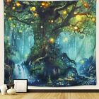 Arfbear Forest Tapestry, Nature Tree Popular Elves Wall Hanging Tapestry Warm Gr