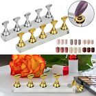 Crystal Magnetic Manicure Nail Art Practice Display Stand False Tip Holder Tool