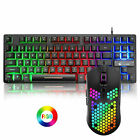 K16 Wired 87 Key Gaming Keyboard and Mouse Rainbow Backlit for gaming and office