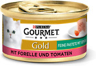 Purina Gourmet Gold Fine Pate, High-Quality Cat Wet Food, Pet Food, With Vegetab