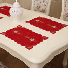 Holiday Christmas Poinsettia Candle Placemat Table Cloth Runner Dinner Supplies