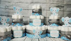 3 Tier Diaper Cake and sets - Little Peanut Elephant Theme - Blue and Gray