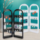 Jewelry Display Rack Earrings Necklace Organizer Folding Hanging Stand Storage
