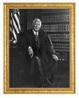 Chief Justice Warren E. Burger Photograph in a Aged Gold Frame