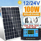 100w solar panel kit 12v battery charger 10 100a controller caravan boat rv