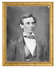 Abraham Lincoln Photograph in a Aged Gold Frame