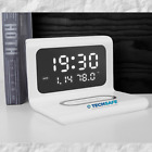 3-IN-1 LED HD Digital  Alarm Clock Phone Wireless Charging For IOS Android NEW