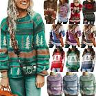 Womens Vintage Festival Knitted Sweater Pullover Reindeer Fairisle Comfy Jumper
