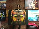 Buddha Face Canvas Print Huge Framed Wall Art Decoration Cotton Canvas Giclee