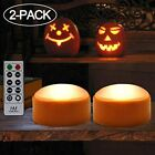 Halloween Decorations-2 pack Orange Pumpkin Lights LED with Remote/Timer 2 modes
