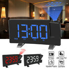 LCD Digital LED Projection Alarm Clock FM Radio Snooze USB Changing Dual Clocks