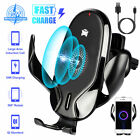 10w Car Mount Qi Wireless Charger Air Vent Phone Holder Fast Charging For iPhone