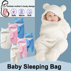 Toddler Newborn Baby Infant Fleece Swaddle Wrap Blanket Sleeping Bag Winter Warm