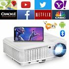 LCD Android WIFI Blue-tooth Projector Home Theater Wireless Movie Game LED HDMI
