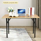 Foldable Study Coffee Table Computer Desk Folding Wooden Laptop Home Office UK