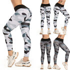 Womens High Waist Yoga Pants Push Up Leggings Camo Fitness Gym Workout Trousers