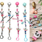Silicone Panda Pacifier Clip Teething Soother Baby Chew Toy Pacifiers Chain