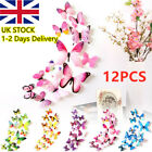 12 X 3d Butterfly Wall Stickers Home Decor Room Decoration Sticker Bedroom Girl~