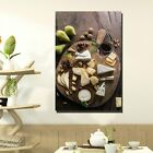 Fine Wine and Cheese Platter Kitchen Dining and Cafe Decor Canvas Art Print